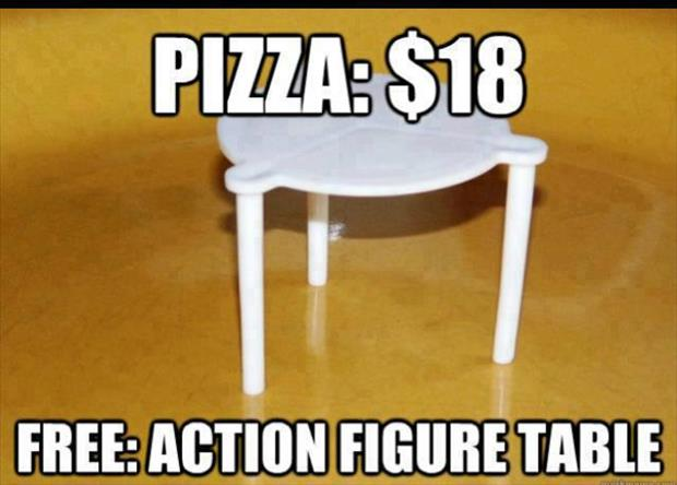 pizza doll house table