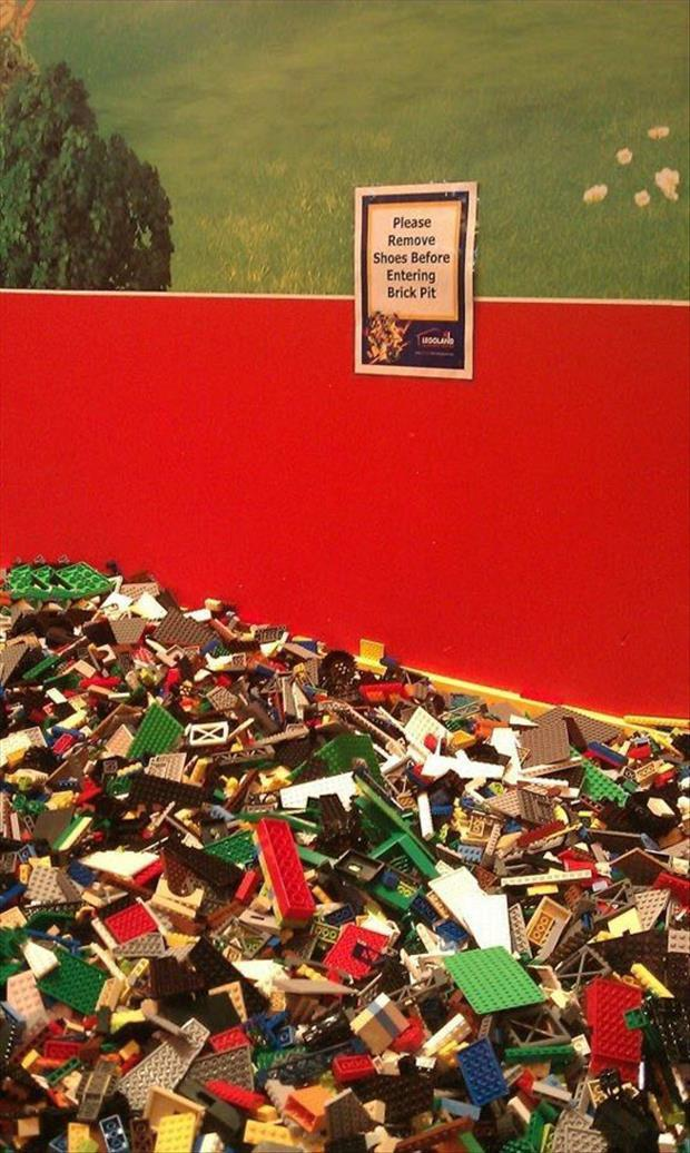 remove shoes before walking on legos