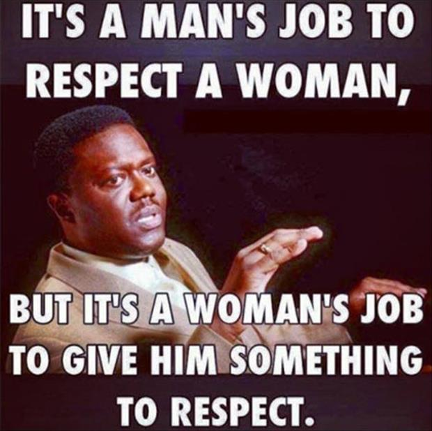 respect a woman