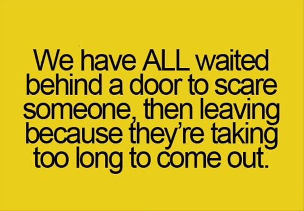 scaring people