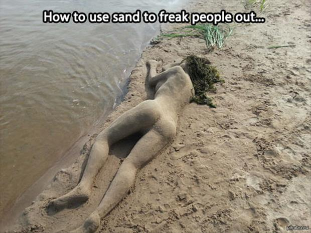 sexy sand castle