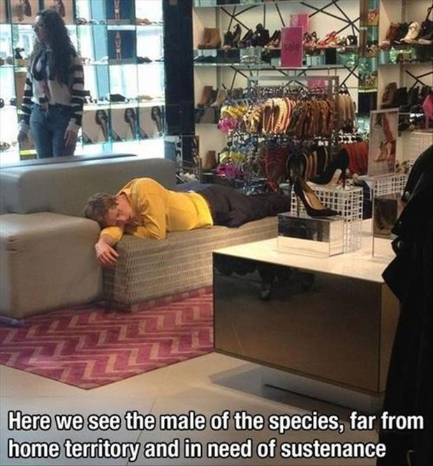 shopping with a man