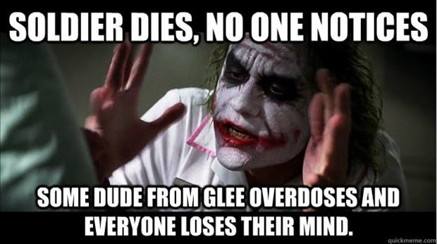 some dude from glee dies