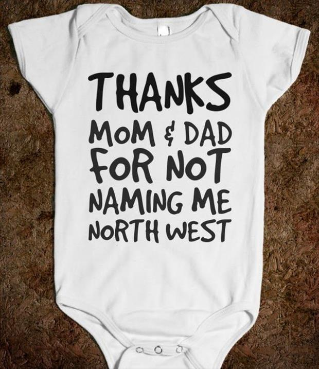 thanks for not naming me North West