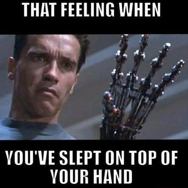 the feeling you get when you hand falls asleep