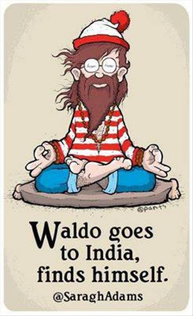 waldo goes to india to find himself