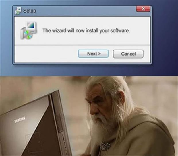 wizard installing software