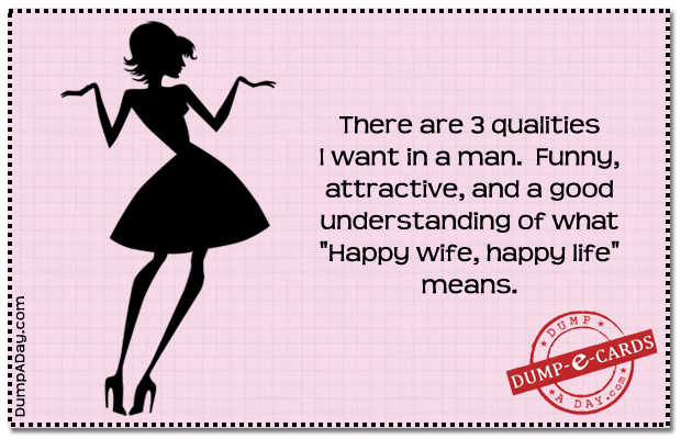 3 qualities Dump E-card