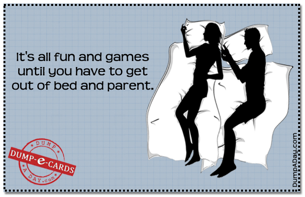 All fun and games Dump E-card