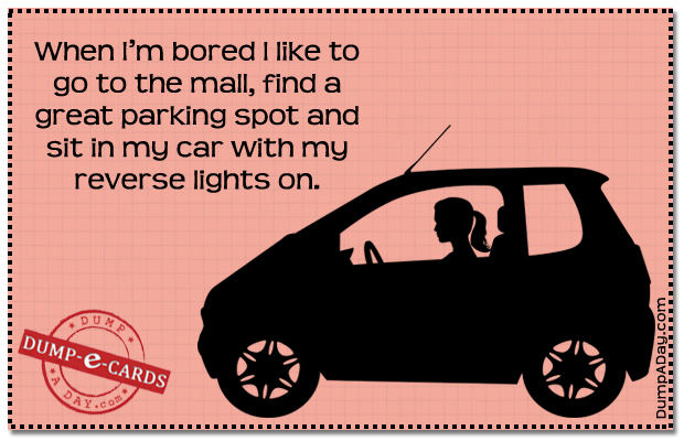 Bored mall funDump E-card