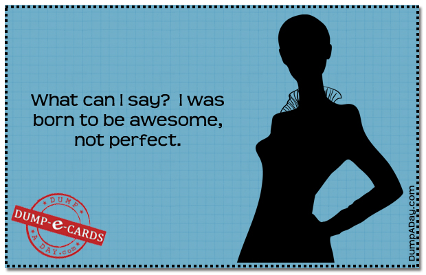 Born to be awesome Dump E-card