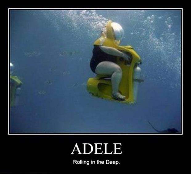 Demotivational posters adele rolling in the deep