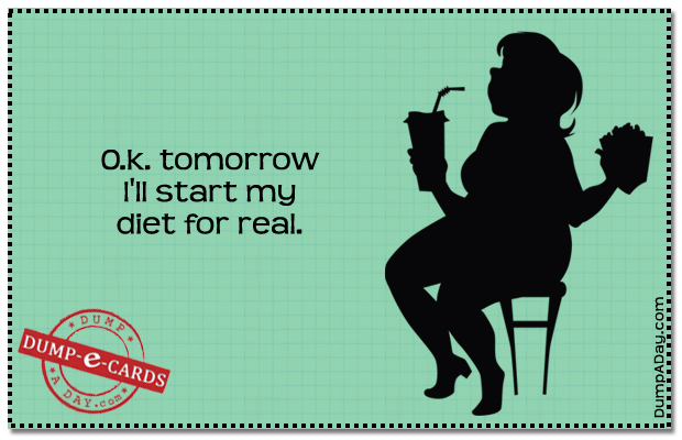 Diet for real Dump E-card