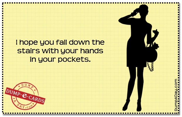 Hope you fall Dump E-card