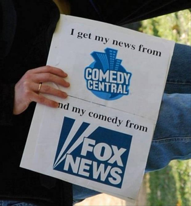 I get my news from comedy central