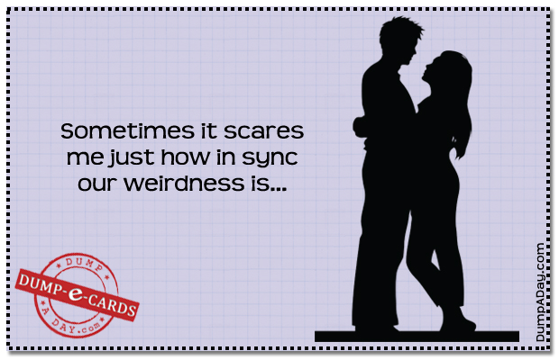 In Sync weirdness Dump E-card