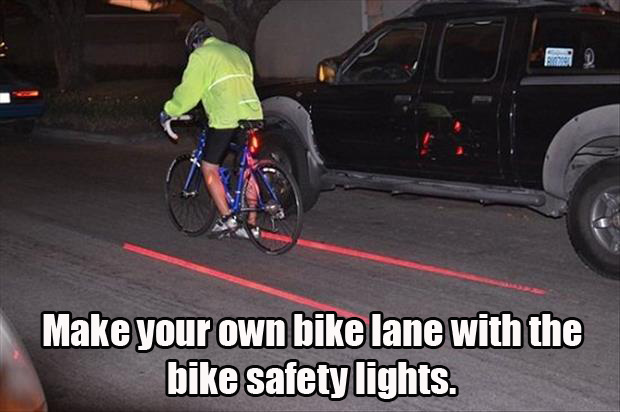 Make your own bike lane with Bike Safety Light