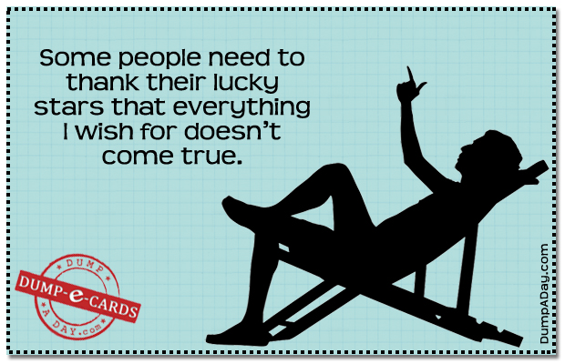Thank Their Lucky Stars Dump E-card