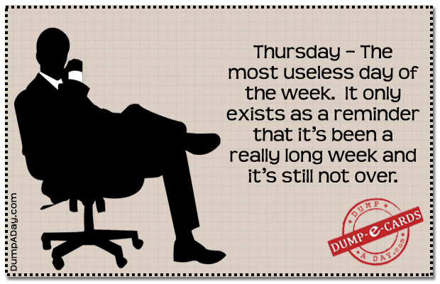 Thursday Dump E-card