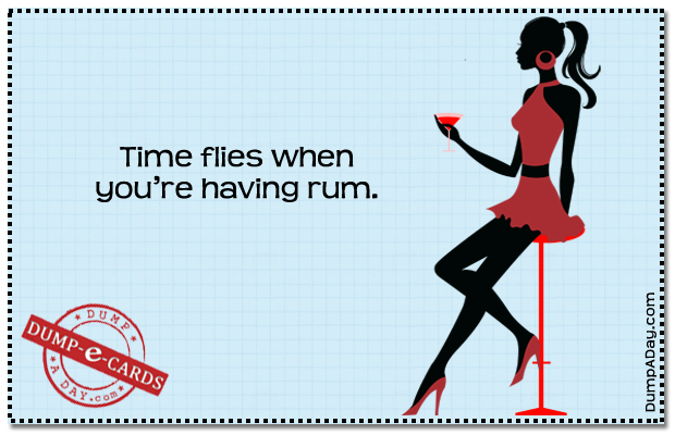 Time flies Dump E-card