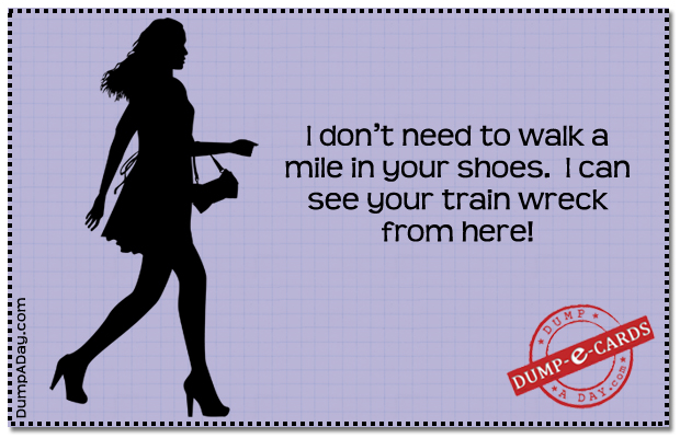 Train wreck Dump E-card