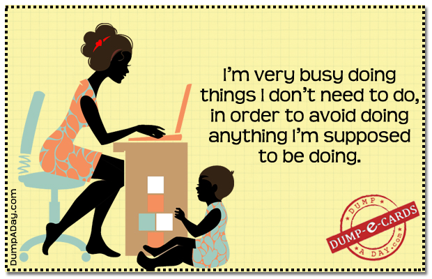 Very busy Dump E-card