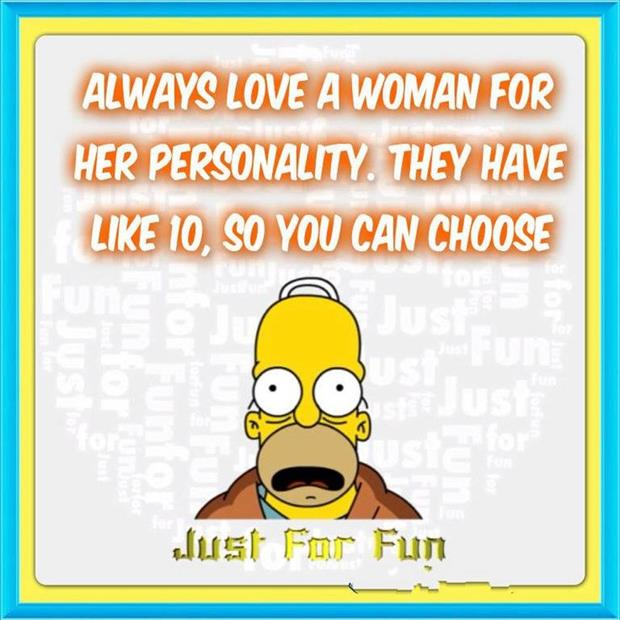 a love a woman for her personality