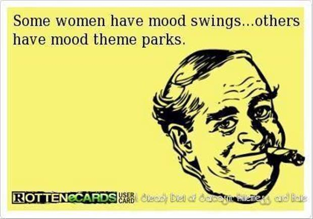 a woman has mood swings