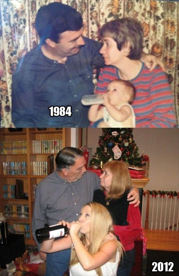 act out old photographs