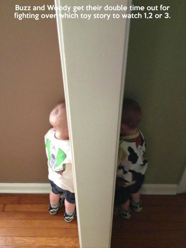 buzz and woody in timeout