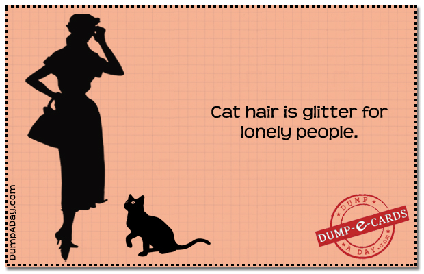 cat hair Dump E-card