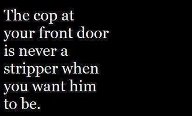 cop at your front door