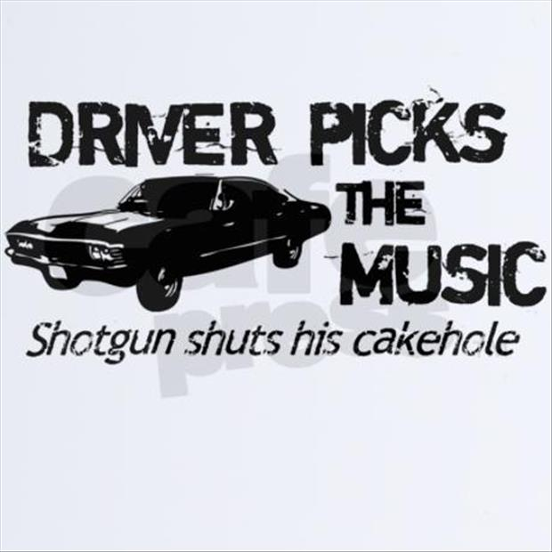 driver picks the music