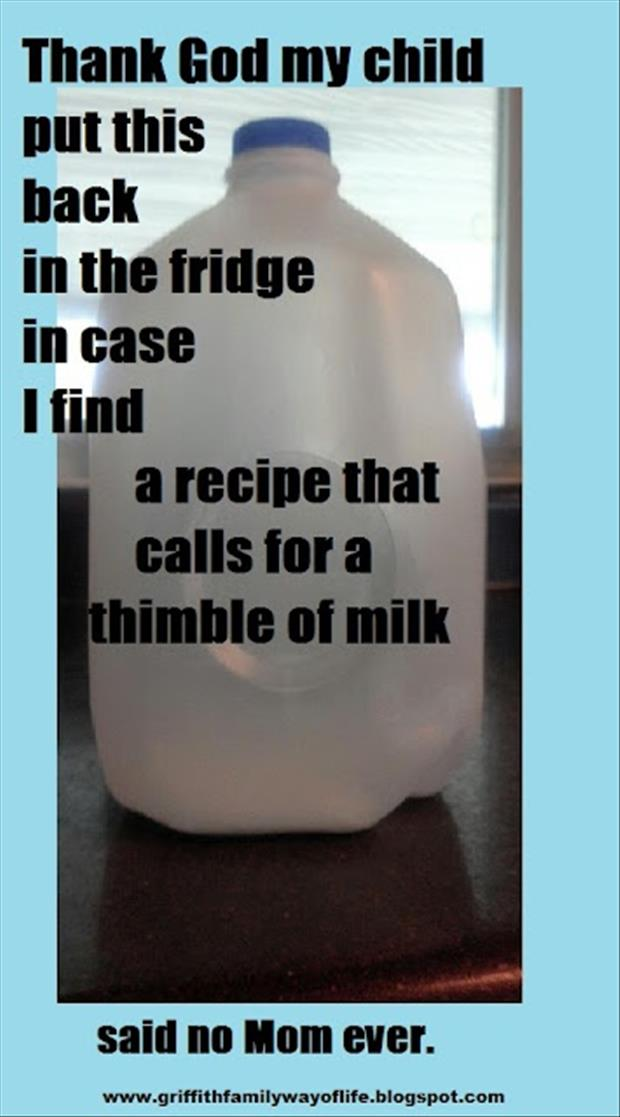empty carton of milk