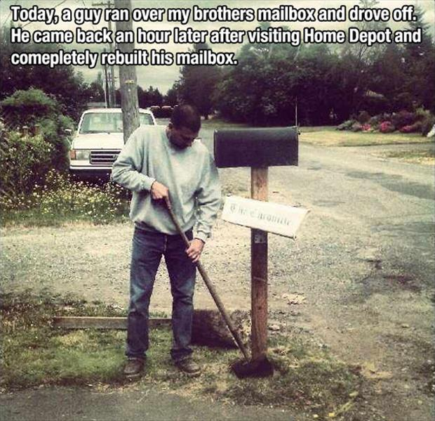 faith in humanity restored building a mailbox