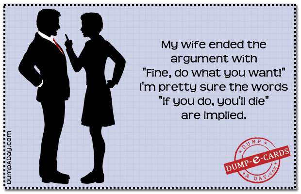 fine do what you want Dump E-card