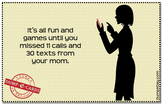 fun and games Dump E-card