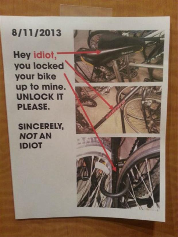 funny bike signs