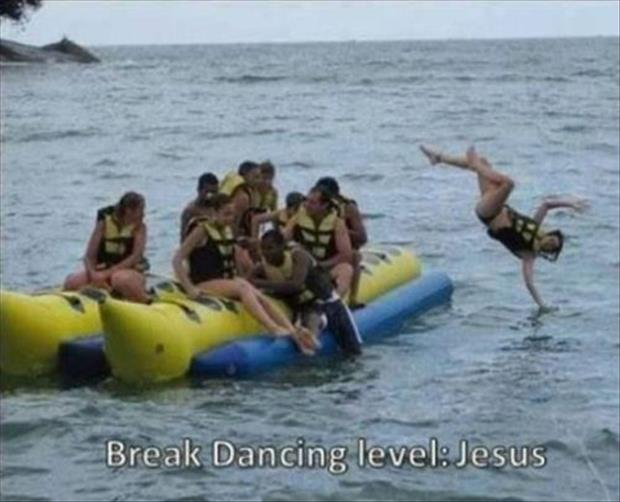 funny break dancing like jesus