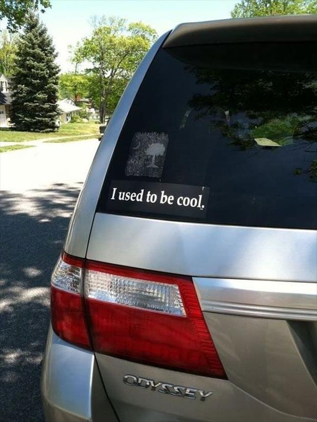 funny bumper stickers on mini van