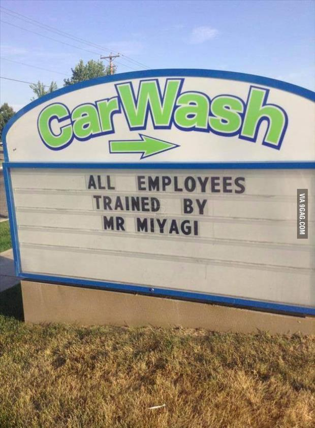 funny car wash signs