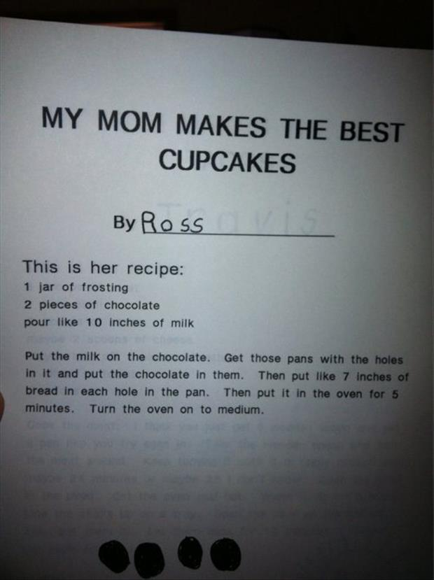 funny cupcake recipes