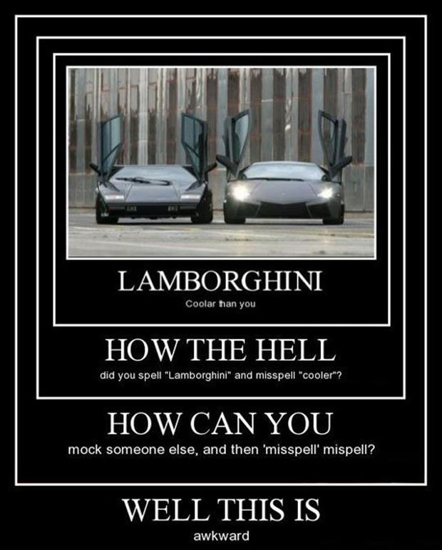 funny demotivational posters spelling errors