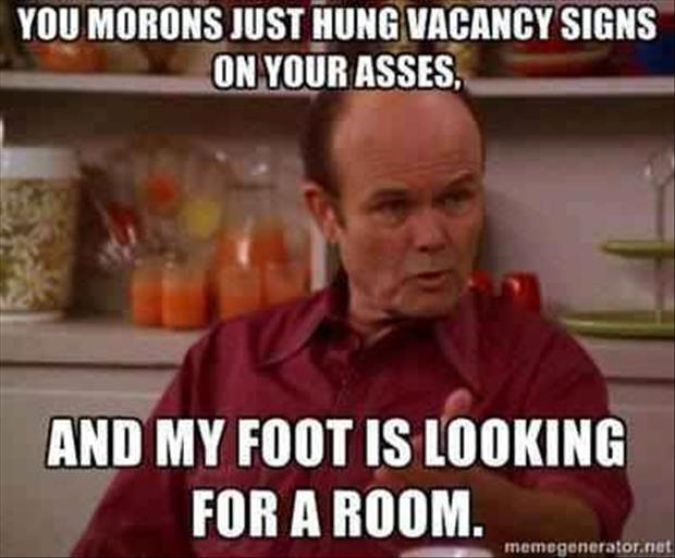 funny foot in your butt