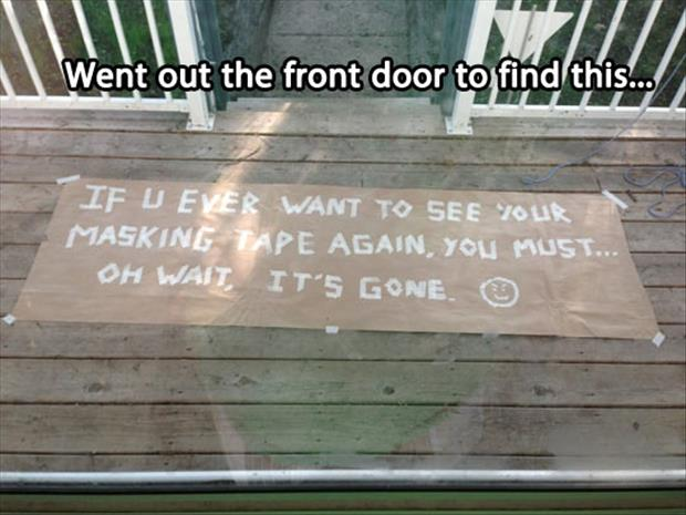 funny notes from neighbors