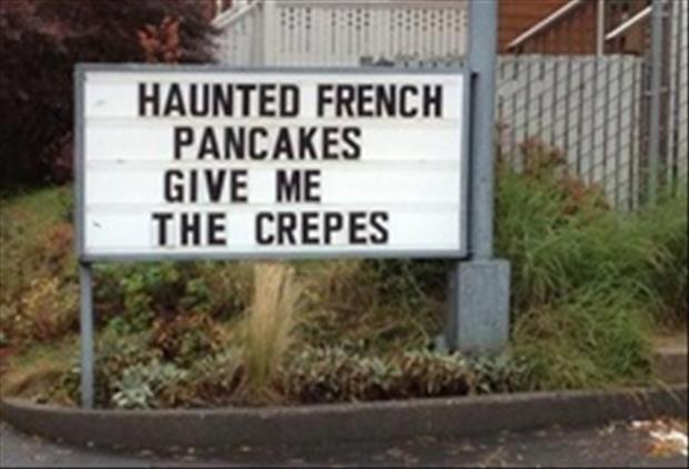 funny pancakes sign