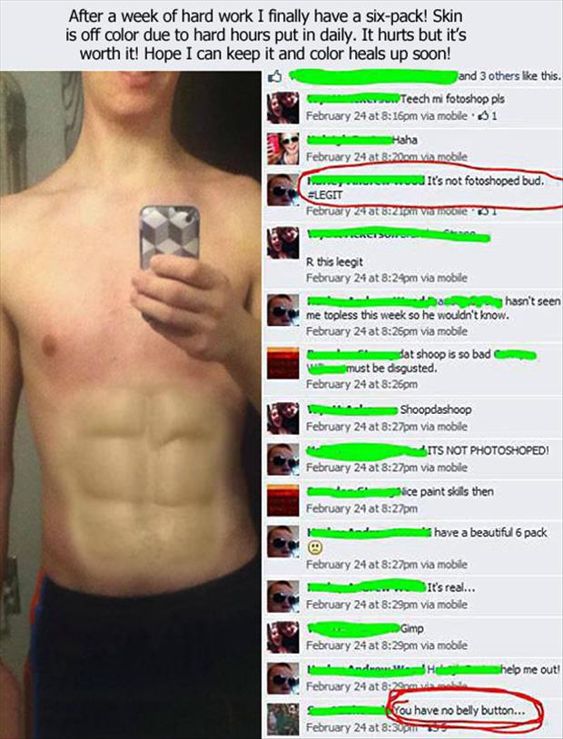 funny photoshopped six pack abs