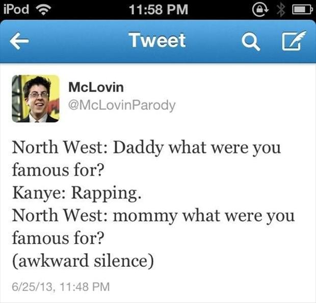 funny twitter quotes about North West baby name