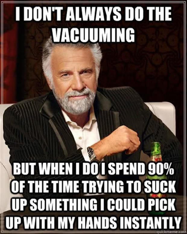 funny vacuuming