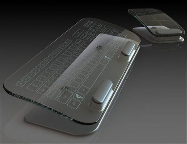 genius ideas glass keyboard